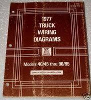 gmc truck service manuals original shop books factory repair manuals 1977 gmc chevy 40 50 60 90 95 medium heavy duty truck bus wiring diagrams manual