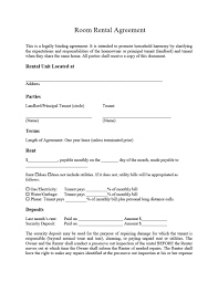 It is a kind of an agreement template if you want to rent a room. 39 Simple Room Rental Agreement Templates Templatearchive
