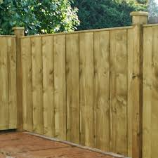 4ft x 6ft vertical hit and miss pressure treated fence panel these treated wooden fence panels