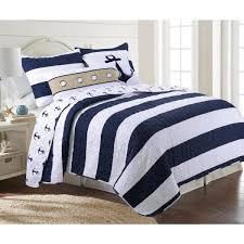 hallie 3 piece navy twin quilt set