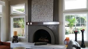 custom wall treatments venetian plaster over an old brick fireplace