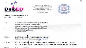 deped leyte ranking of teacher i applicants
