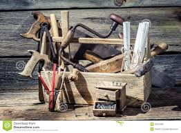 carpentry tools and diagrams in an old workshop stock image free printable woodworking plans at Free Wood Diagrams