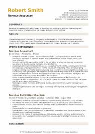 Example Of Accountant Resumes Revenue Accountant Resume Samples Qwikresume
