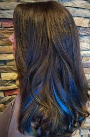 Subtle Blue Highlights Blue Hair 30 Brand New Bangin Blue Hair Color Ideas