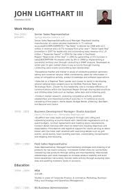 Senior Sales Representative Resume Samples - Visualcv Resume Samples ...