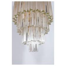 italian chandelier in murano glass transpa 24 karat gold limited edition