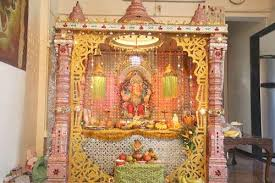inspiring picture of ganpati makar decoration ideas temple