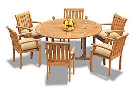 Teak wooden dining table Furniture Dining Image Unavailable Daleslocksmithcom Amazoncom Gradea Teak Wood Dining Set Seater Pc 60