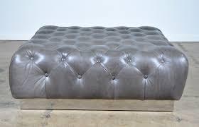 gray leather ottoman coffee table  home design ideas