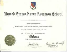 diploma af class army us army avaition school ft  diploma 67a1f class 11 14 1970 army us army avaition school ft rucker