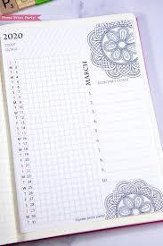 Daily Routine Printable 2020 Daily Routine Printables Monthly Habit Tracker Mandala