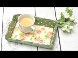 Wooden Trays To Decorate How to decorate a wooden tray decoupage tutorial DIY By 31