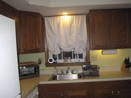 image of bay kitchen window curtain ideas