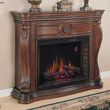 33 inch infrared quartz electric fireplace insert with safer plug black