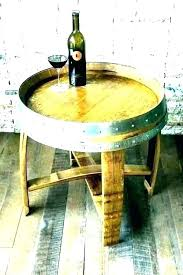 half barrel table wine top brackets whiskey barrels for home depot charming end coffee uk half barrel table image 0 whiskey and chairs outdoor wooden