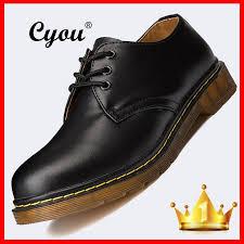 product details of cyou best men and women uni fashion formal shoes oxfords shoes lace up genuine leather shoes no logo version kasut lelaki