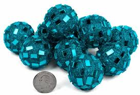 Turquoise Decorative Bowl Turquoise Mirrored Disco Balls Vase Fillers Table Scatters 37