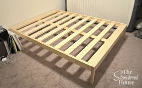 easy bed frame. Contemporary Bed Bed Frame Installed Inside Easy