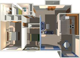 d house plans in sq ft plan with car pictures 1200 3 bedroom 3d gallery