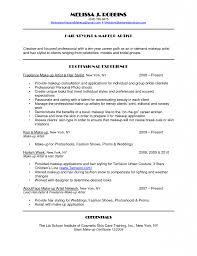 Form Of Resume Sample Retail Makeup Artist Resume Forms Of Resume