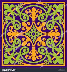Medieval Design Patterns Medieval Design Isometric Patterns Vector Stock Vector