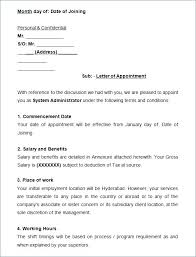 Appointment Letter Format Simple India Oliviajane Co
