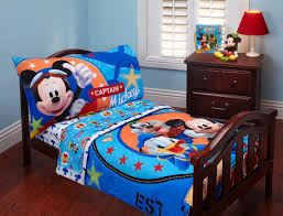 mickey mouse toddler bed set blue