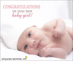 Congratulations On Your New Baby Girl Congratulations Cards