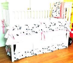 baby bedding black and white grey crib pink sets modern