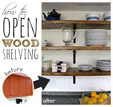 how to install open wood shelving