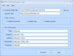 Download HTML to PDF Converter 3.2