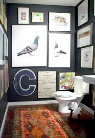 Art for bathroom Printable View In Gallery The Variety Of Art On The Walls Makes Statement Decoist How To Use Art In Small Bathroom