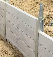 concrete sleeper retaining walls