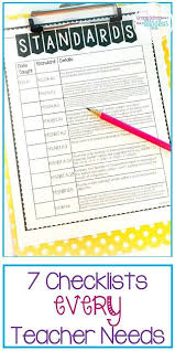 Do You Have These 7 Checklists Every Teacher Needs Library