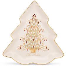 Lenox Usa Christmas Tree Plates Set Of Three China 81 Balsam 79 Lenox Christmas Tree Plates