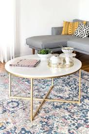 stylish round gold coffee table