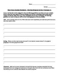 best short story harrison bergeron images short a worksheet to walk students through the elements of the story harrison bergeron by