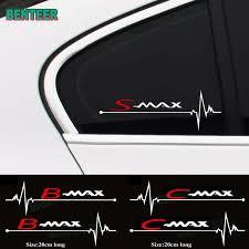 <b>2pcs/lot car</b> windows sticker For Ford Smax S max Cmax C max ...