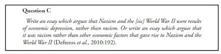 assessment in the teaching of holocaust history and theories of race on reading this history it is clear that economic factors were among the causes of the second world war also that was transformed into a racial