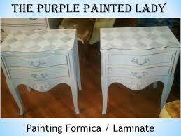 paint laminate furniturePainting Laminate or Formica Tops of Dressers  The Purple Painted