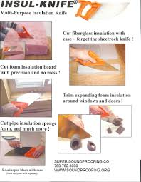 cutting sound control insulation with the insulknife