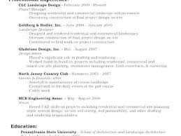 Architectural Designer Resume Job Description Landscape Design Resume Buzzzler Co