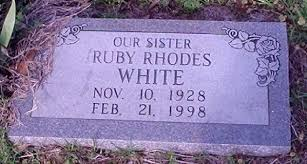 Ruby Jo Rhodes White (1928-1998) - Find A Grave Memorial