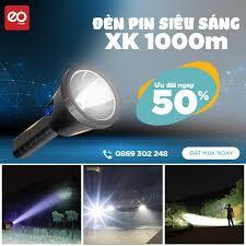 Đèn Pin Siêu Sáng EOMART XK Chiếu Xa 1000M Xé Tan Bóng Tối (leo núi, bảo  trì, cắm trại)...Khám Phá Mới[CHÍNH HÃNG] giá cạnh tranh
