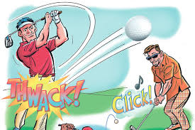 Image result for early morning golf cartoon