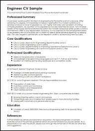 Manufacturing Engineer Resume Sample cv of engineer - East.keywesthideaways.co