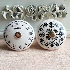 unique drawer pulls. Contemporary Drawer Black U0026 White Time Clock Round Ceramic Cabinet Knobs Dresser Drawer Pulls  Unique Decorative Furniture Handlesin From Home Improvement On  And