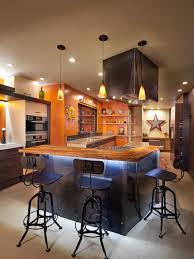Orange Kitchens Colorful Playful Industrial Kitchen Nar Bustamante Hgtv