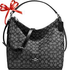 New Authentic COACH Celeste outline monogram signature large shoulder bag  in Stunning Grey